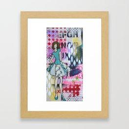 Sassy Twirl Framed Art Print