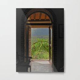 BACK DOOR Metal Print