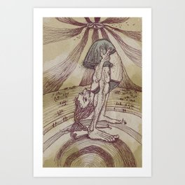 The Contortionist Art Print