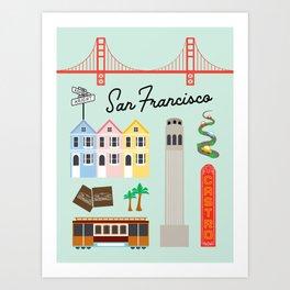 San Francisco Art Print Art Print