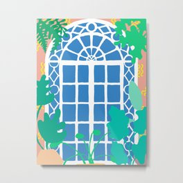 Postmodern Garden Window Metal Print