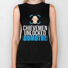 New Godmother Gift Achievement Unlocked Godmother Present for First Time Godmom Biker Tank