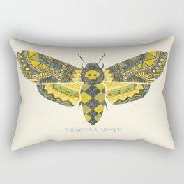 """""""Acherontia atropos"""" Moth Rectangular Pillow"""