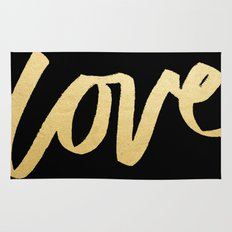 Love Gold Black Type Rug