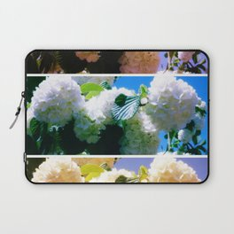 Snowball Branch Collage (I) Laptop Sleeve
