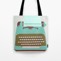 type Tote Bags featuring Type by Rachel Gresham