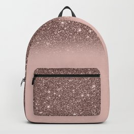 Rose Gold Glitter Ombre Backpack