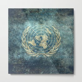 The United Nations Flag - Vintage version Metal Print