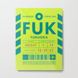 Luggage Tag D - FUK Fukuoka Japan Metal Print