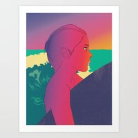 surfer Art Prints featuring Surfer by martiszu