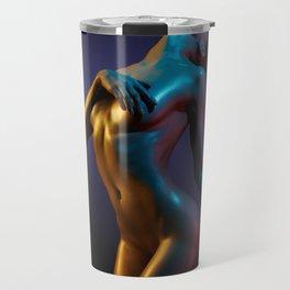 Nude Woman Bathed in Light Travel Mug