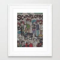 scott pilgrim Framed Art Prints featuring Scott Pilgrim Vs. The World by ClairesGreetings