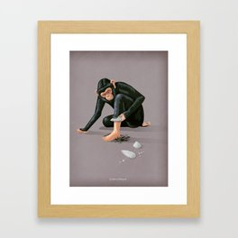 Time to evolve Framed Art Print