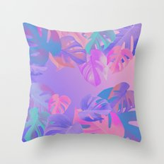 Monstera multi Throw Pillow