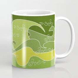 Waves V green colors V Duffle Bags Coffee Mug