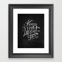 LYRICS - KEEP YOUR HEAD UP Framed Art Print