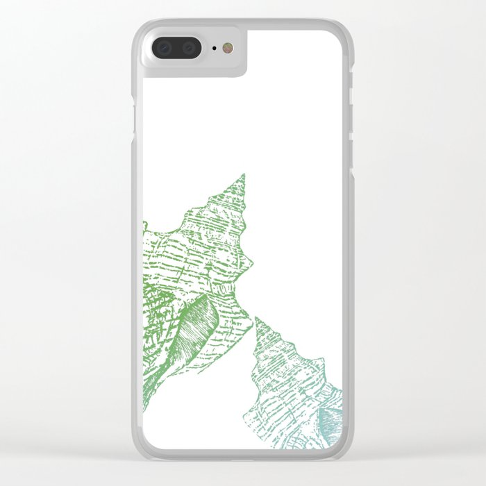 Shells Coloured Clear iPhone Case