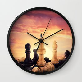 the rise of a chess player Wall Clock