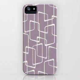 Soft Purple Retro Geometric Pattern iPhone Case