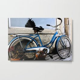 Grandma's Bike Metal Print
