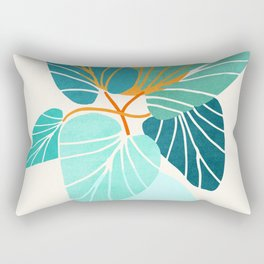 Tropical Symmetry / Retro Aqua Orange Palette Rectangular Pillow