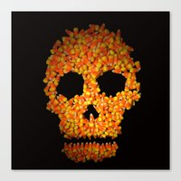 Candy Corn Skull Canvas Print