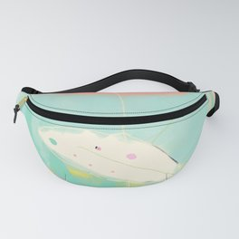 minimal floral abstract art Fanny Pack
