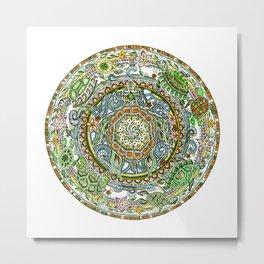 121 - Turtle Mandala Metal Print