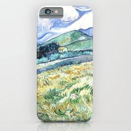 Vincent Van Gogh - Landscape from Saint Remy iPhone Case