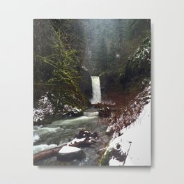 Weisendanger Falls by Seasons Kaz Sparks Metal Print