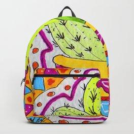 Aztec Cactus in pot Backpack