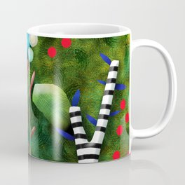 That´s how its got to be - Rupydetequila 2018 - Cactus nopal green and red polka dots Coffee Mug