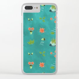 Duck Texture Clear iPhone Case