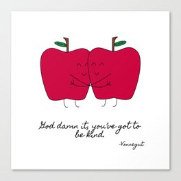 Kind Apples (or An Ode To My Imaginary Boyfriend) Canvas Print