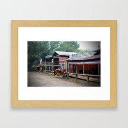 One Horse Town Framed Art Print