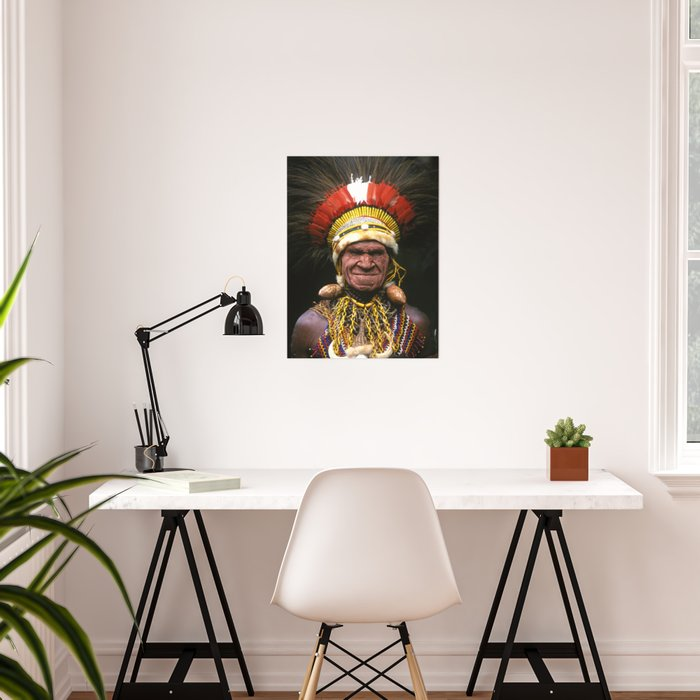 Papua New Guinea Chief's Headdress Poster
