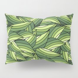 GREENERY LEAVES B  (abstract flowers nature) Pillow Sham