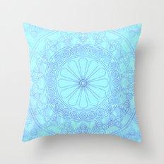 Mandala blue Throw Pillow