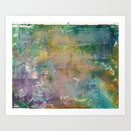Abstract Y (Monoprint) Art Print