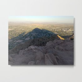 In the Shadow of a Mountain Metal Print