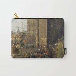Venice, The Piazza San Marco by Canaletto Carry-All Pouch
