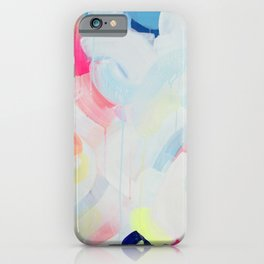 Instant Crush - Abstract painting by Jen Sievers iPhone Case