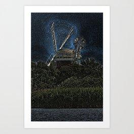 Horsey windmill Art Print