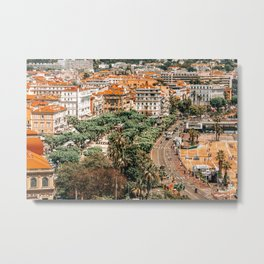 Aerial Cannes City Print, Aerial City View, Drone Photography Of Cannes City In France, Urban Architecture, Old Town Print, Film Festival Cannes City Metal Print
