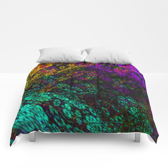 clouds everywhere color Comforters
