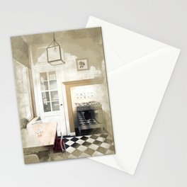 interior sketch of living area Stationery Cards