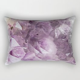 Cluster of Amethyst Rectangular Pillow
