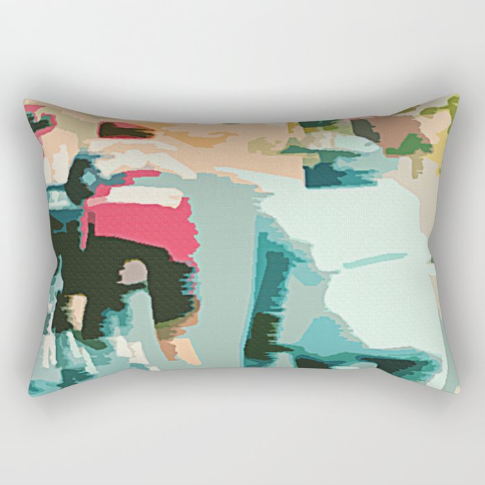 tete de la course   Rectangular Pillow