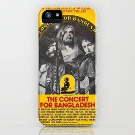 1972 Concert for Bangladesh Bob Dylan Gig Poster iPhone Case
