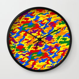 Homouflage Gay Stealth Camouflage Wall Clock